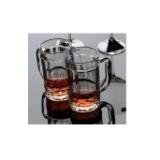供应玻璃啤酒杯 扎啤杯 玻璃把子杯 水杯定做 徐州玻璃瓶厂批发啤酒杯