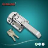 尚坤SK1-093-3密闭箱体专用把手/锌合金压缩式手柄/带锁芯杠杆锁