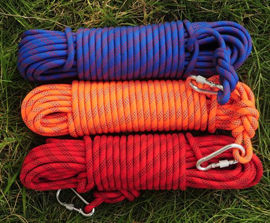 静力绳厂家优惠 登山攀岩绳 高空作业速降绳 消防救援安全绳