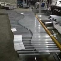 厂家直供异形铝方通|风格独特的波浪型铝方通吊顶|广东欧佰铝方通厂家