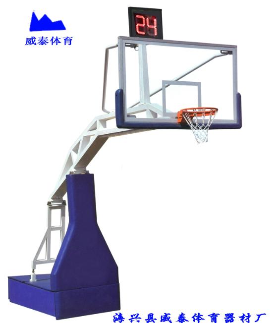 2017年威泰体育手动液压篮球架 电动液压篮球架 24秒计时器