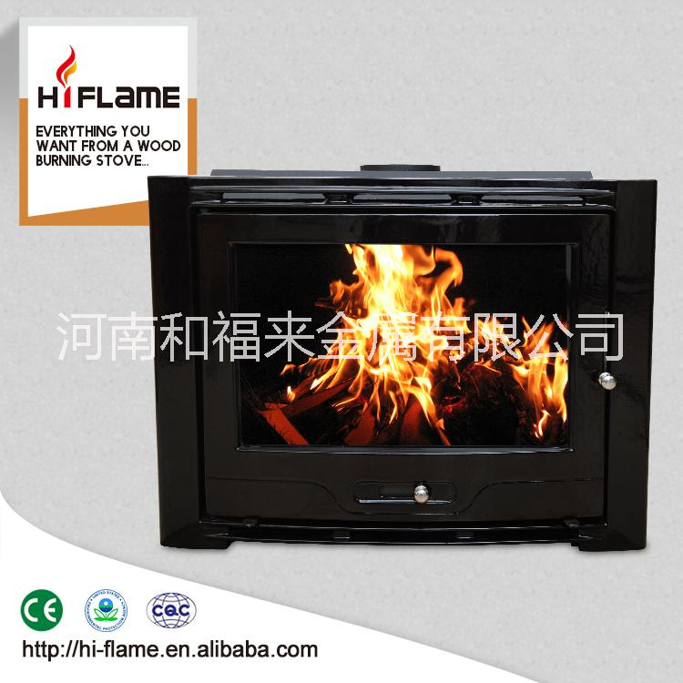 在中国制造的铸铁燃木壁炉 插入式木壁炉HF577IU7黑搪瓷