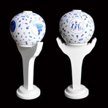 景德镇装饰陶瓷台灯新品照明灯具吊顶LED灯女排灯罩批发