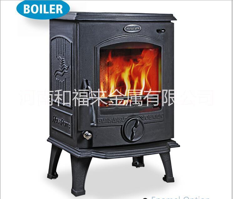 HiFlame HF317B室内无烟铸铁壁炉带水胆独立式木材燃烧炉