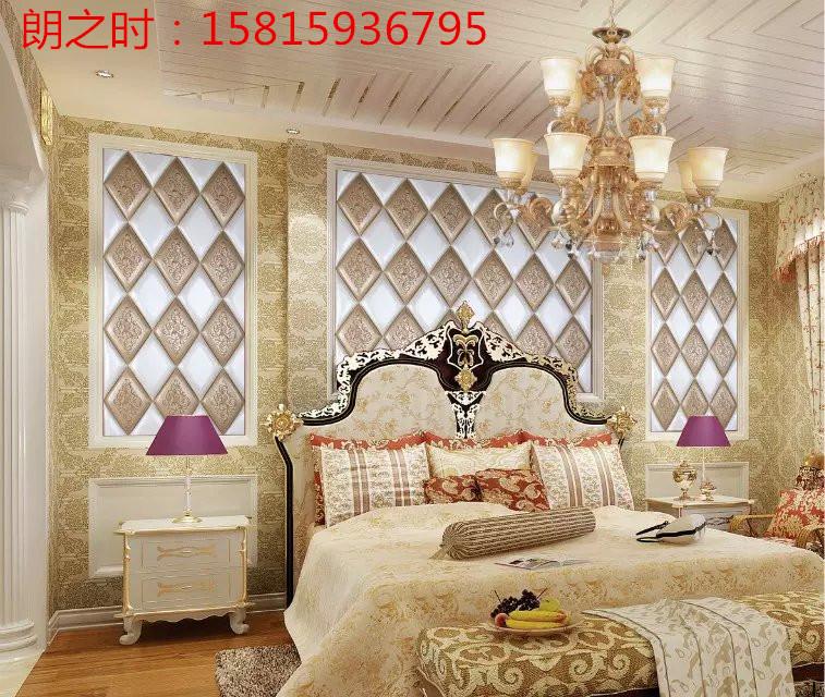朗之时软包艺术背景墙 欧式高档卧室背景墙