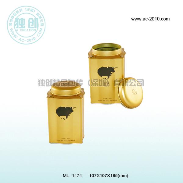 供应红岁茶叶罐 高档茶叶铁罐批发 广东茶叶罐生产厂家 茶叶盒价格
