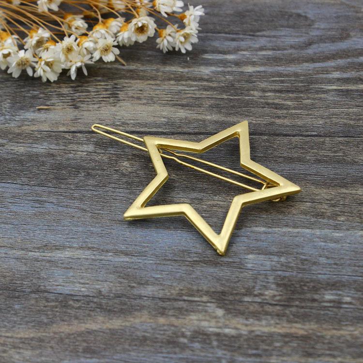 金属星星女式百搭扣子夹