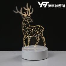 创意3d台灯 塑料底座 蓝牙充电