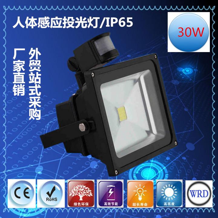 LED人体红外感应投光灯