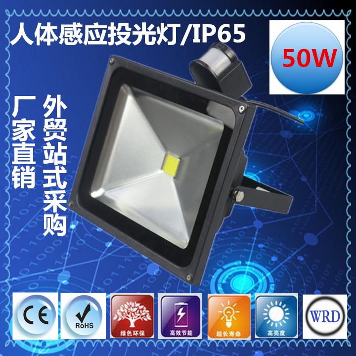 50W LED人体红外感应灯