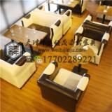 天津实木卡座沙发价格 欧美风格卡座沙发定做  新款优质卡座沙发 西餐厅卡座沙发