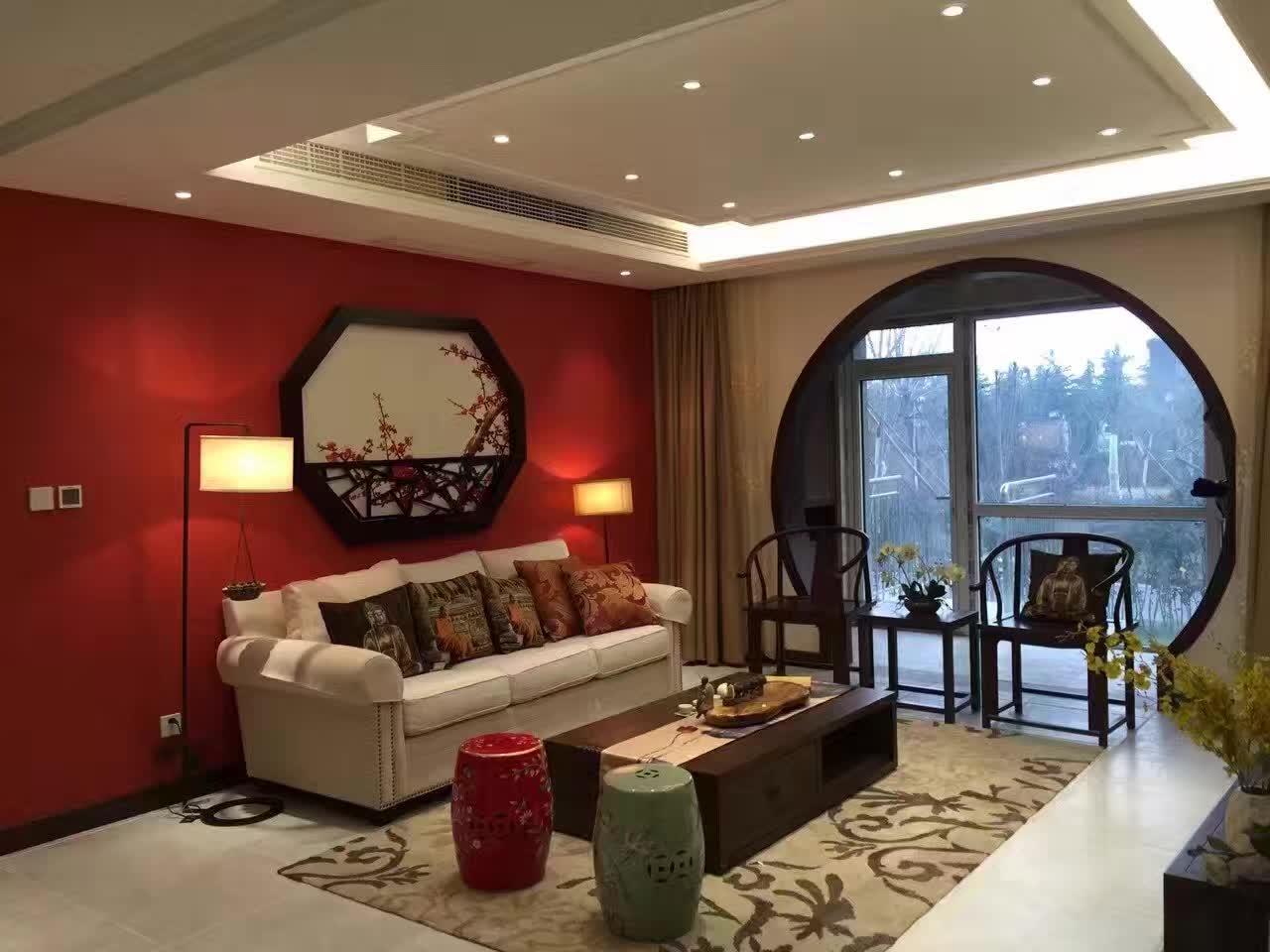 别墅客厅装修效果图报价 别墅客厅装修效果图新中式风格设计