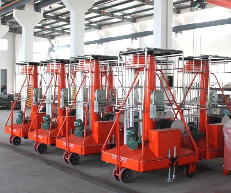 济南套缸式移动自行式液压升降平台 套缸升降平台订做厂家价格