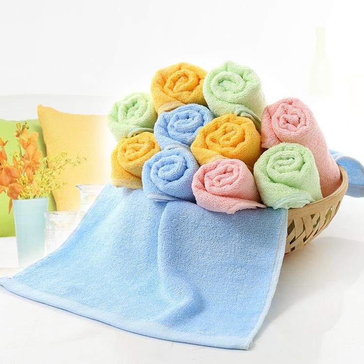 迎春雨竹纤维方巾销售
