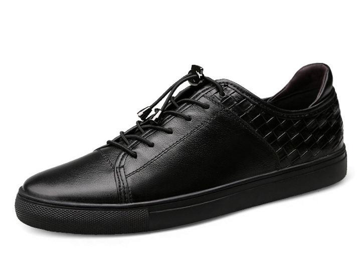2017男士春季新款韩版潮流休闲板鞋 真皮青春防滑系带低帮皮鞋子
