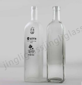 250ml 500ml 750ml 橄榄油瓶配塞子 方形油瓶 价