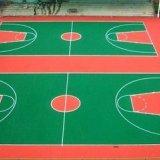 球场硅PU地坪 篮球场弹性地坪 聚氨酯地坪