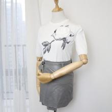 2017春夏季新款热销女装上装手工拼花短袖宽松纯白T恤甜美气质批发