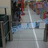 智能超市感应门超市出入口机圆柱四柱摆闸六柱摆闸