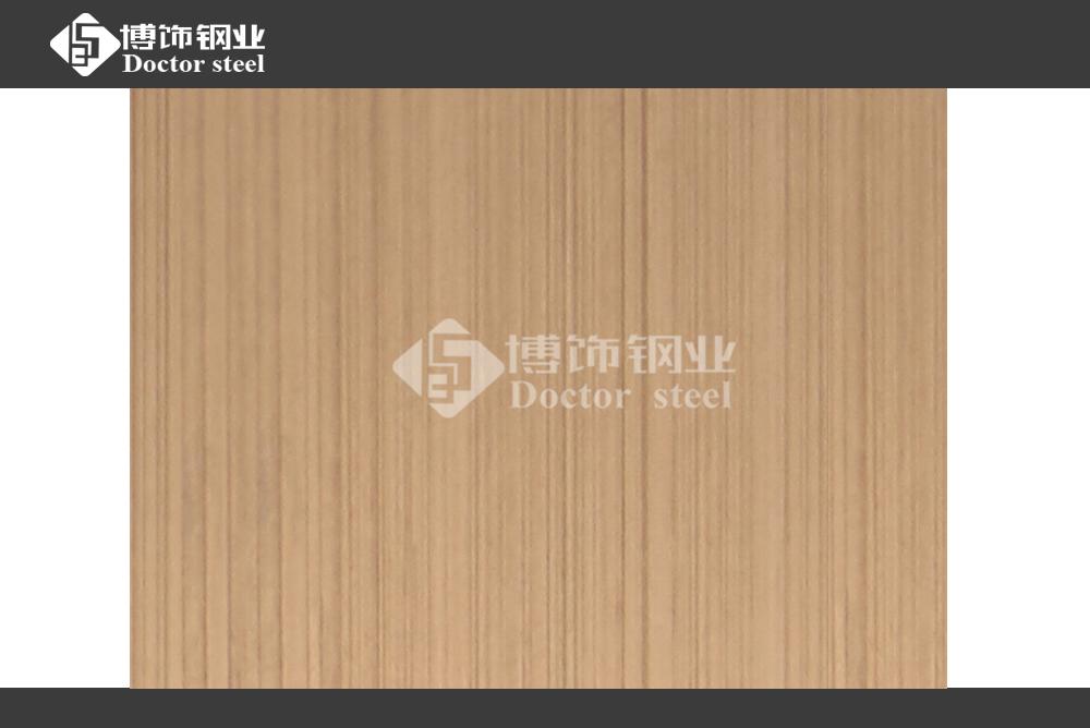 304拉丝玫瑰金不锈钢装饰板 高档彩色不锈钢板  不锈钢表面镀色加工厂家