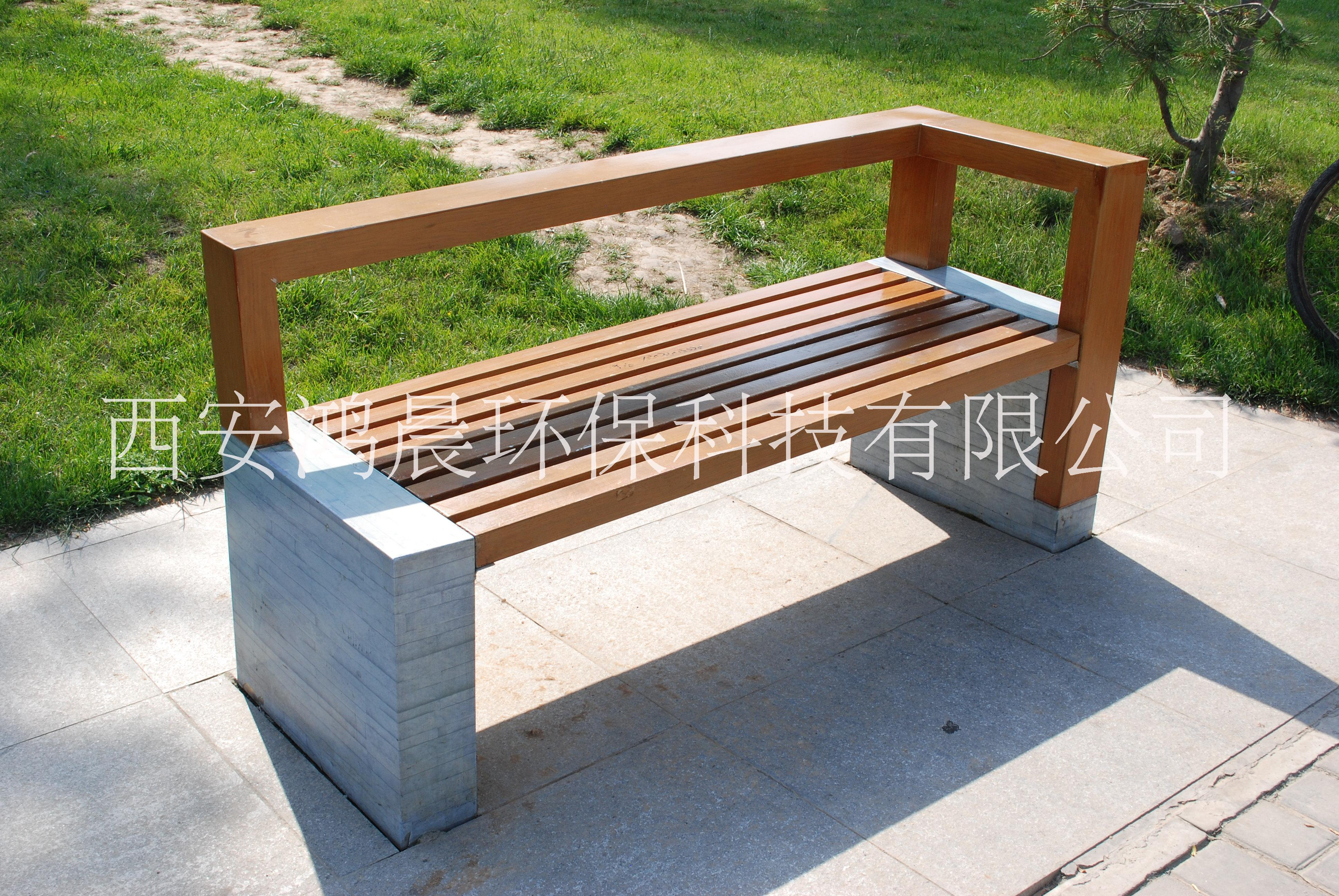 西北户外座椅,户外木塑围树椅厂家,木塑休闲椅,公园椅制造厂