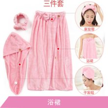高阳纺织产品厂家浴裙定制 超细纤织造舒适柔软超强吸水居家穿戴浴巾 上海浴裙批发