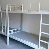 特批量大优惠高低床成人内贸中式白色双人多种钢制方形卧室双层床