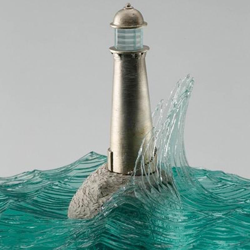 水晶透明雕塑家居饰品礼品定制 中式个性创意工艺品批发 水晶雕塑