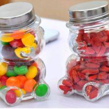 歪头小熊瓶创意小玻璃瓶糖果瓶批发