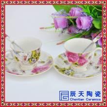 骨瓷咖啡具欧式高档金边小号下午茶咖啡杯具套装花红茶陶瓷整套礼品批发