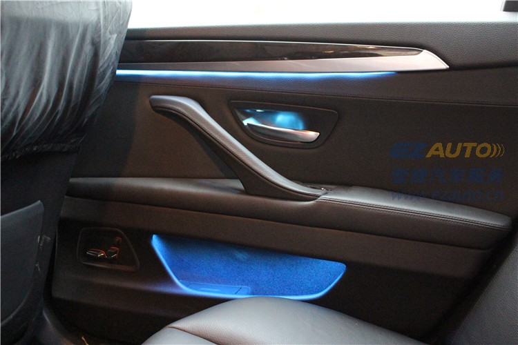 石家庄汽车灯光升级宝马加装氛围灯精美安装实拍效果展示!