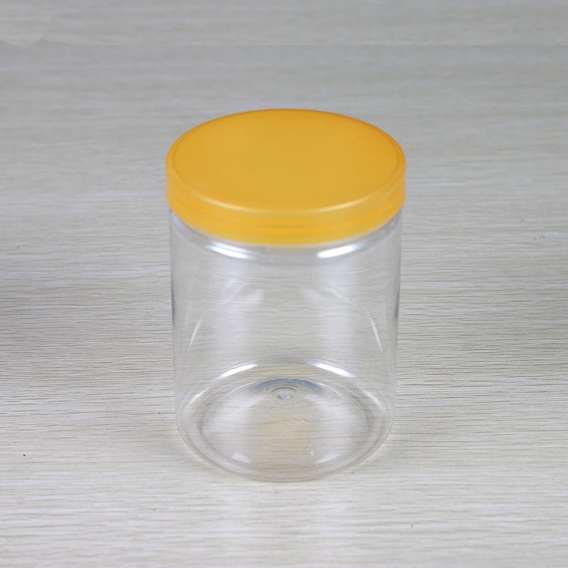 加厚型PET透明塑料罐 500ML螺旋罐 食品包装罐 塑料易拉罐塑料瓶