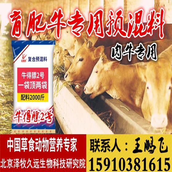 肉牛出栏专用预混料 2.5%育肥牛专用预混料