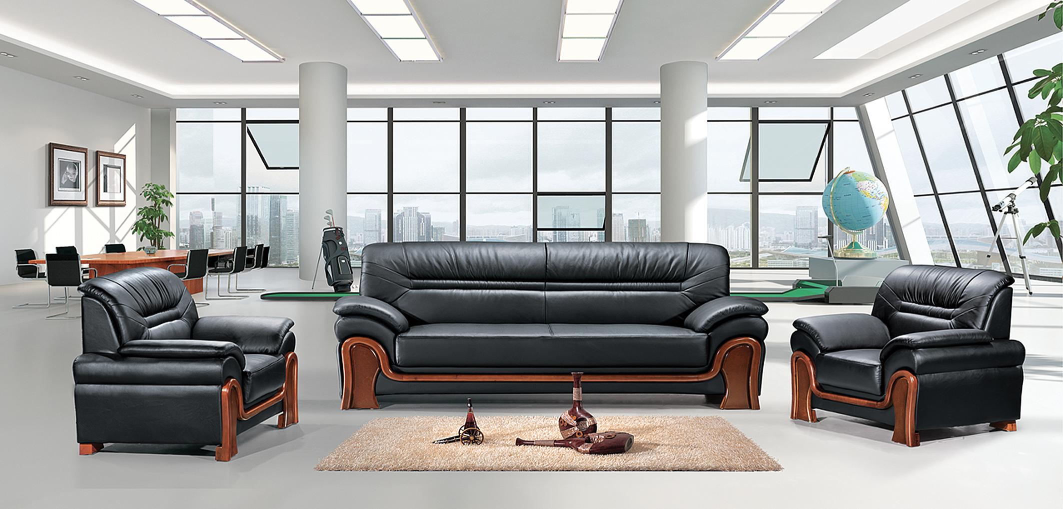 宜昌十堰公司接待沙发皮面沙发接待沙发款式牛皮沙发价格襄阳沙发厂
