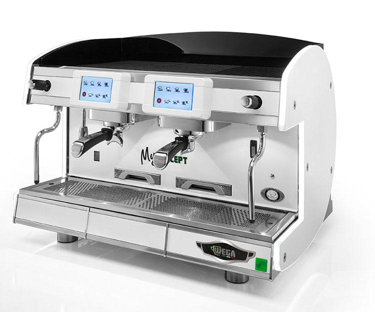 Wega半自动咖啡机 MY concept商用意式高杯多锅炉 触摸液晶屏节能