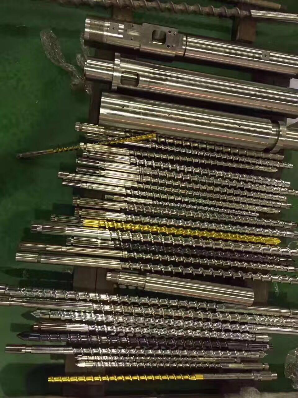 注塑机料筒螺杆批发销售 二手注塑机批发 低价转让 出售 市场 回