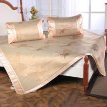 深圳家纺供应商家纺凉席供应商冰藤席高档双面可折叠冰丝席三件套批发
