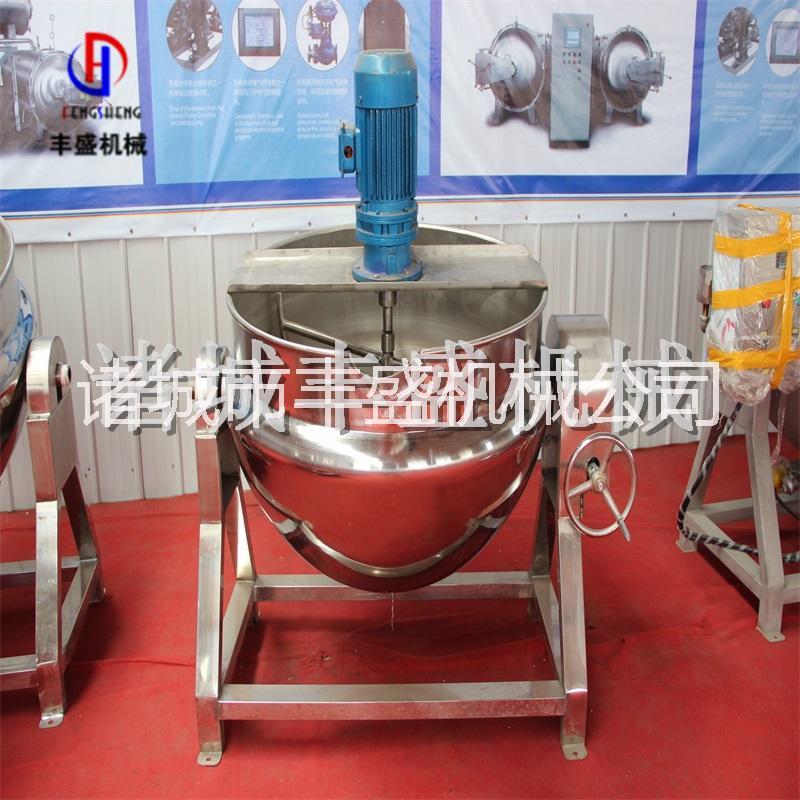 可倾式搅拌夹层锅   奶酪加工设备 不锈钢机械设备