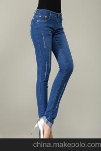 修身显瘦牛仔裤