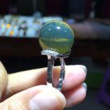 蓝珀琥珀开口活口戒托 厂家批发DIY银饰配件 镶嵌蜜蜡戒指托