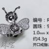 纯银戒指蜜蜂戒指空托图片