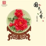 洛阳牡丹花花瓷  高档商务礼品定制 大唐李治国牡丹瓷