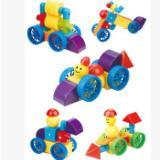 管道状磁性实色磁力片积木新奇特磁性玩具儿童益智拼装厂家直销  儿童玩具益智拼图