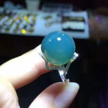 批发925纯银戒指空托加工镶嵌琥珀戒托银托定做活口戒指托图片
