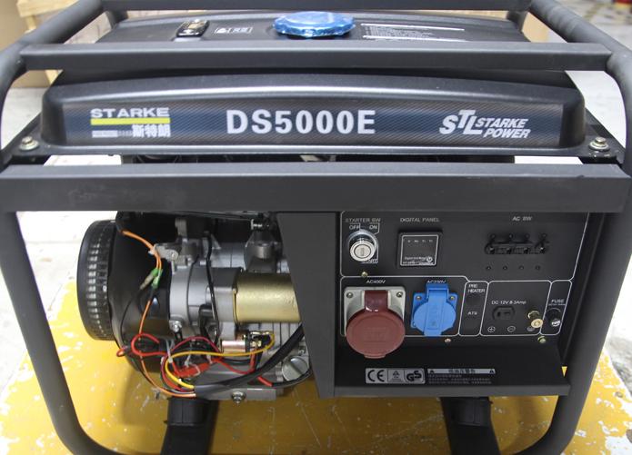 5000w电启动发电机 5000w电启动汽油发电机