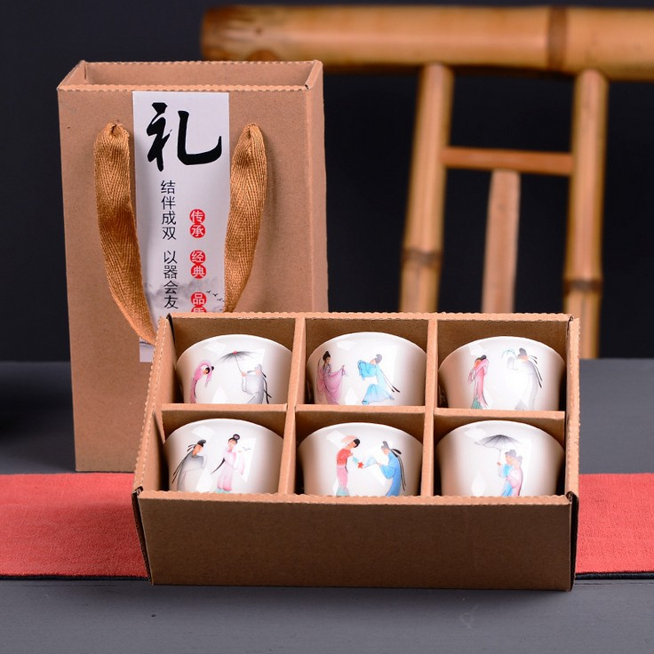 福建白瓷杯茶具 白瓷杯套装批发 茶杯套装批发 白瓷杯茶定制 酒杯
