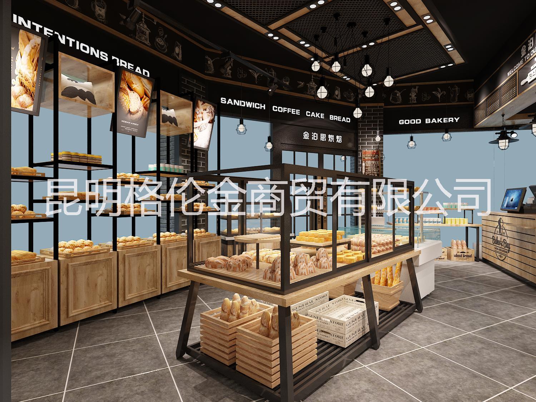 云南面包店设计装饰,面包店装饰柜,面包店展示柜