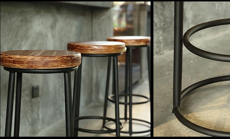 复古酒吧休闲椅快餐厅餐饮家具椅凳高脚凳