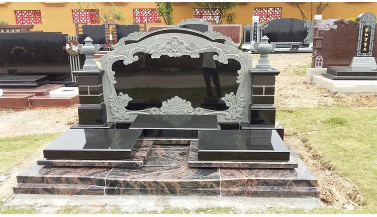 墓碑厂家批发,雕刻大型墓碑可定做,造型精美大方传统墓碑