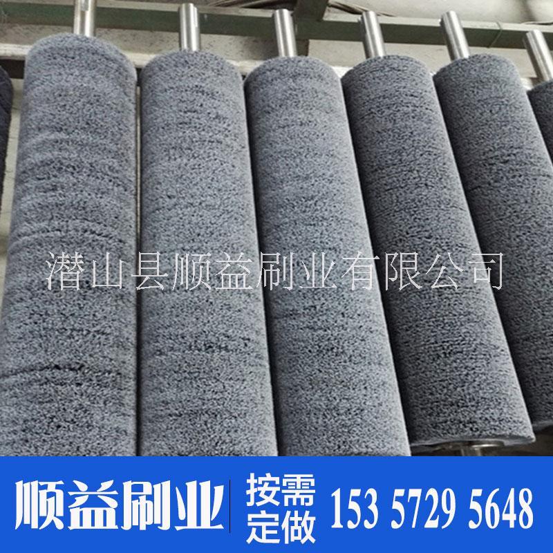 马尾毛刷辊厂家|定做尼龙丝刷辊人字形刷辊|去锈打磨刷螺旋刷辊